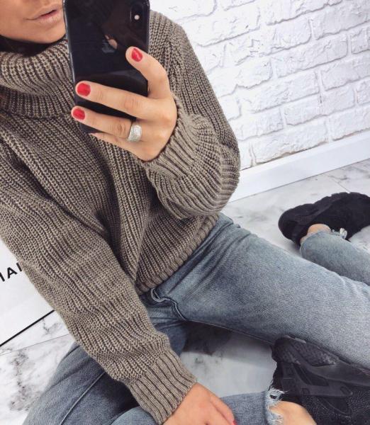 Бежевый свитер оверсайз заказать недорого в интернете