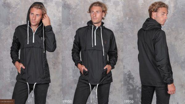 купить мужскую черную анорак куртку в Украине