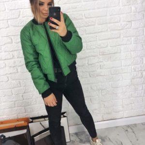 купить бомбер женский зеленый недорого в Одессе