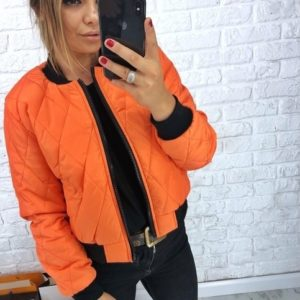купить женский оранжевый бомбер Украина