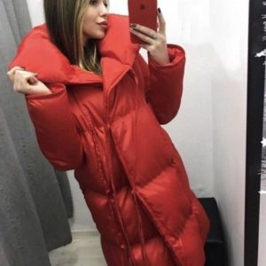 замовити червону жіночу куртку пуховик недорого в Україні