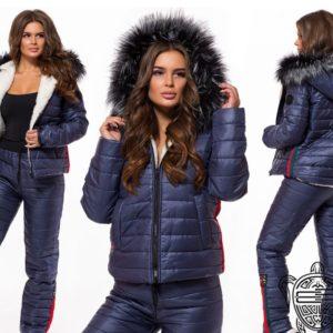 купить темной синий лыжный костюм женский украина