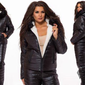 купить черный лыжный костюм женский украина