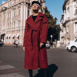 заказать бордовое шерстяное пальто зимнее женское оптом