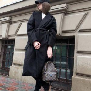 купить черное кашемировое пальто в интернет магазине недорого