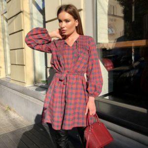 купить женское платье в шотландскую клетку