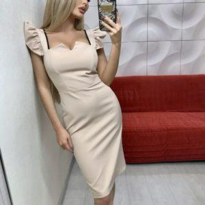 купить бежевое женское платье Украина