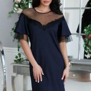 Заказать синее короткое вечернее платье оптом