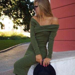 купить платье футляр цвета хаки в Украине недорого