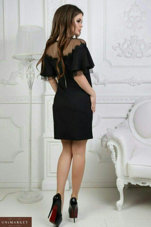 Женское черное короткое вечернее платье цена в Украине
