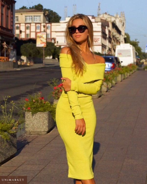цена желтого платья футляр в Киеве