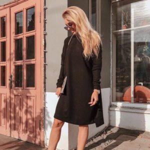 заказать повседневное платье черное в Украине