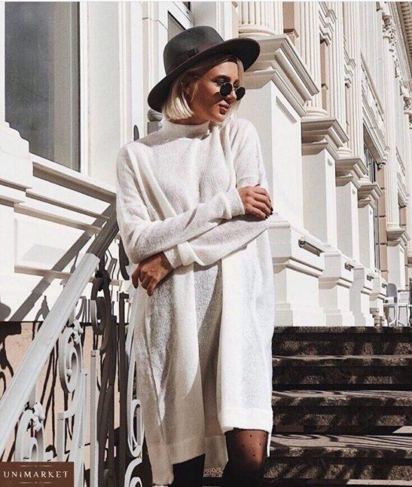 женское белое повседневное платье недорого