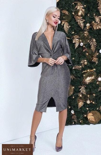 89f918f5e32419 Жіноче Люрексове плаття вечірнє з рукавами купити в онлайн магазині ...