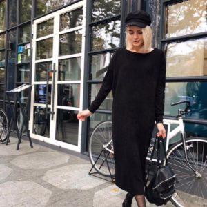 заказать длинное черное платье оптом