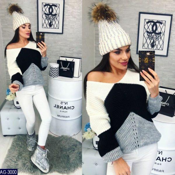 купить женский свитер с одним плечом Украина
