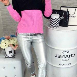 заказать женский розовый вязаный свитер дешево