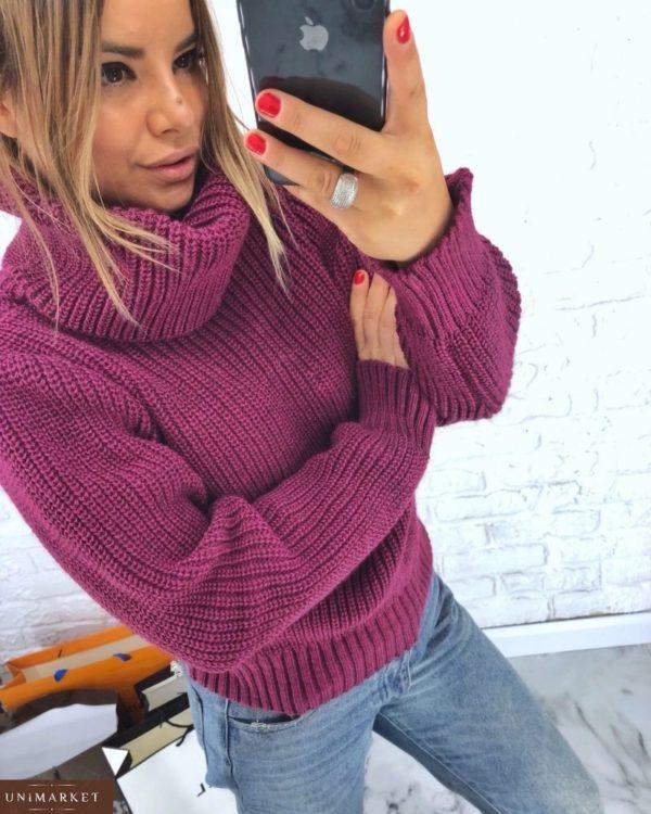 Заказать женский фиолетовый Свитер oversize оптом