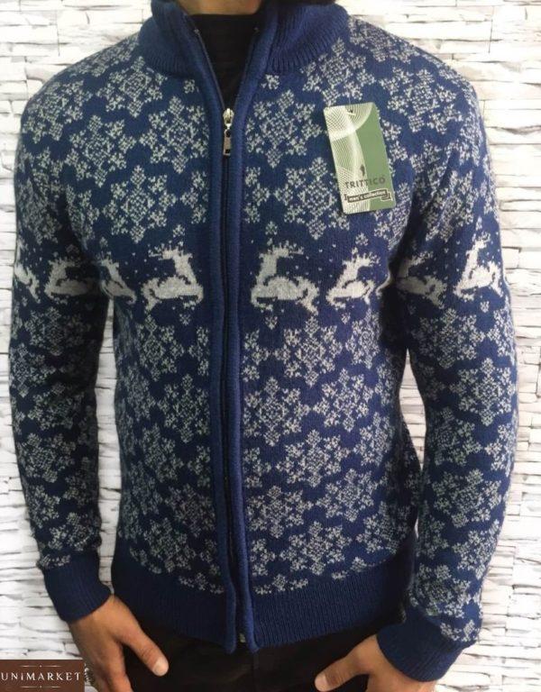 темный джинс свитер с оленями для парней онлайн по низкой цене