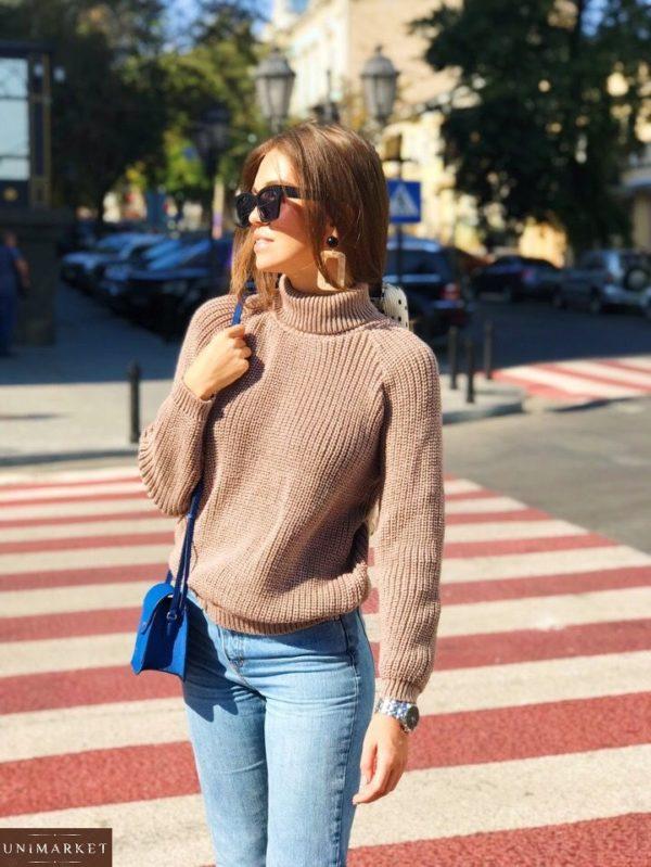 Купить мокко свитер гольф женский со скидкой
