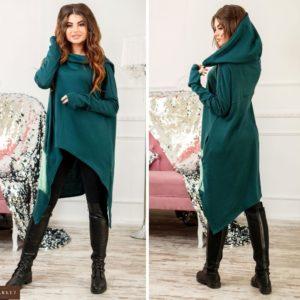 Заказать зеленую женскую кофту-кардиган мантию недорого