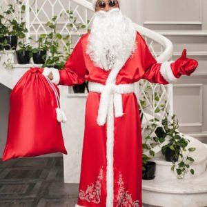 купить костюм деда мороза на новый год красного цвета дешево в интернете