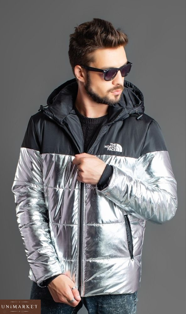 Плотная теплая Куртка мужская The North Face с капюшоном на зиму