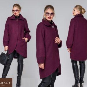 Заказать марсала женское кашемировое пальто больших размеров дешево