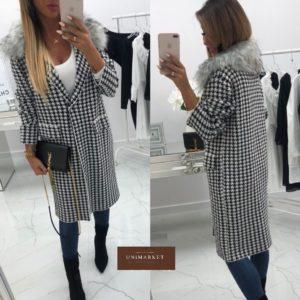 Купить женское пальто твидовое больших размеров оптом