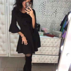 Купить женское черное вечерние платье недорого, есть большие размеры