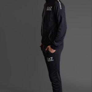 Спортивный костюм черный мужской EA7 турция цена оптом