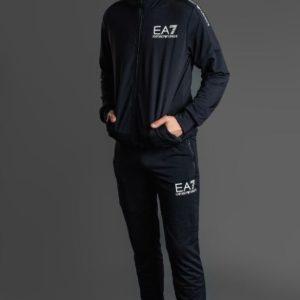 купить Спортивный костюм EA7 мужской черного цвета дешево