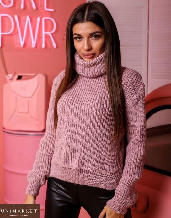 розовый Зимний свитер универсального размера женский