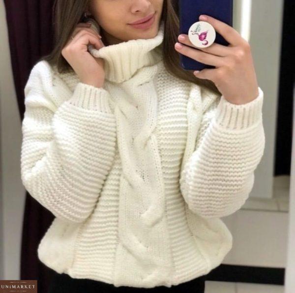 Заказать белый женский свитер под горло в интернете