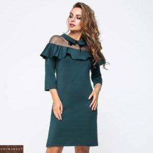 Заказать зеленое женское платье трикотажное
