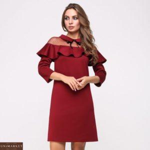 Купить женское платье трикотажное красного цвета