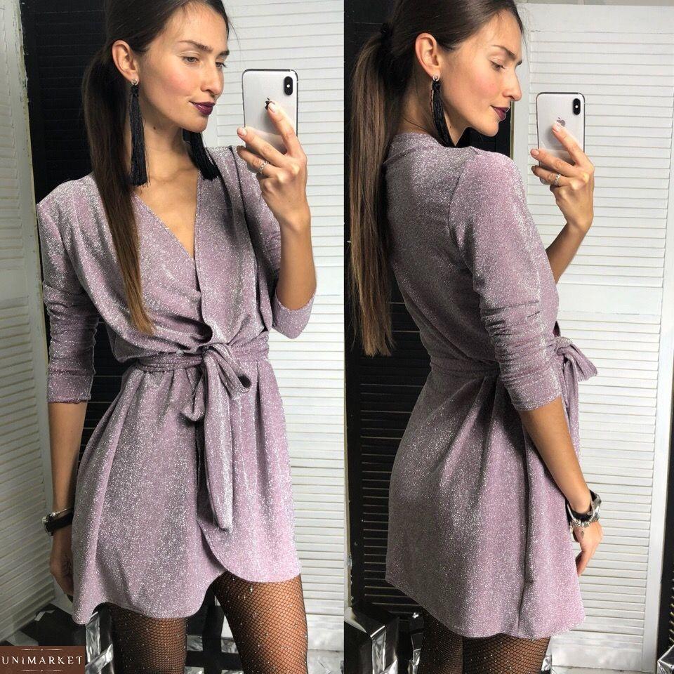 65d0a03b3bc Женское Люрексовое платье с поясом купить в онлайн магазине - Unimarket