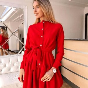 Приобрести женское платье люкс красного цвета дешево