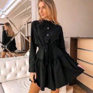 Заказать женское платье люкс черного цвета недорого