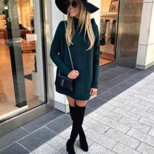 Купить платье из ангоры арктика для женщин зеленого цвета