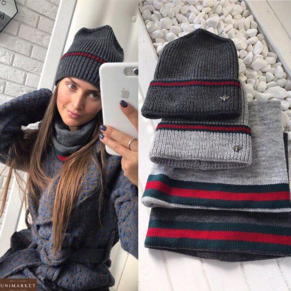 Женская шапка с бафом (комплект) - купить недорого