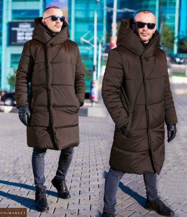 Коричневая мужская куртка на зиму: купить недорого