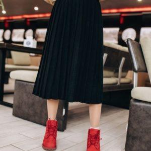 Купить вязаную юбку из шерсти черного цвета оптом Украина