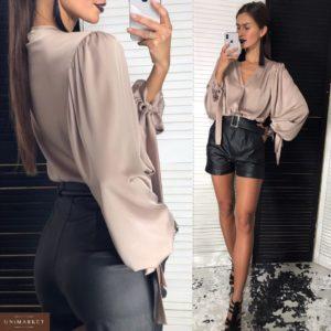 Заказать женские шорты матированные черные дешево