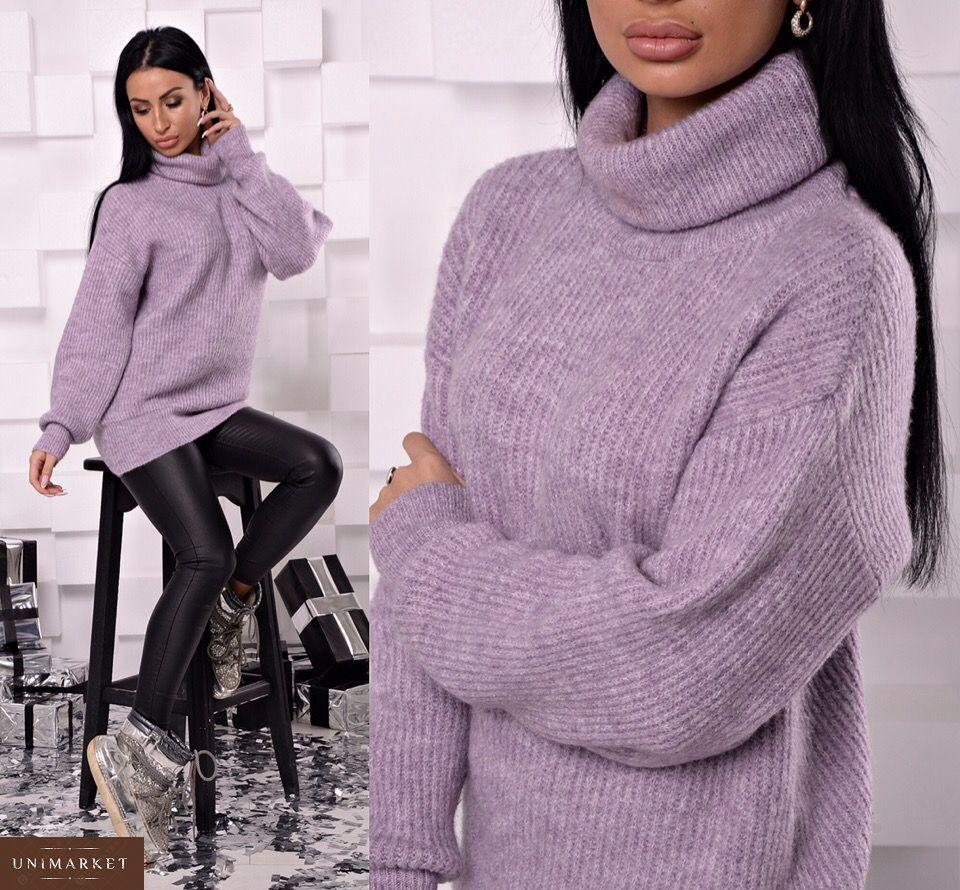 Замовити жіночий светр вільного крою в подарунок блакитного кольору  недорого · Придбати жіночий cвітер вільного крою рожевого кольору недорого 187fbbb0f8482