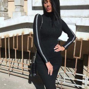 Купить в интернет-магазине черное платье гольф оптом Украина