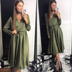 Купить в интернет-магазине женское платье халат цвета хаки