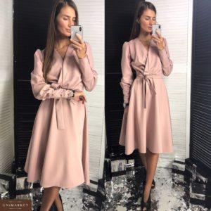 Купить в интернет-магазине женское платье классика цвета пудры