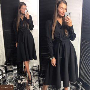 Заказать женское черное платье классика