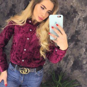 Женская рубашка мраморная бордовая купить недорого